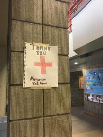crayon red cross sign