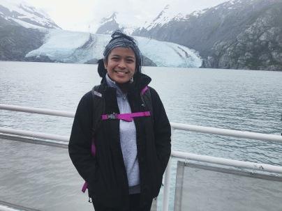 in front of glacier