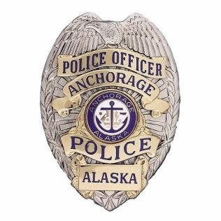 Anchorage Police Department badge, courtesy of APD website