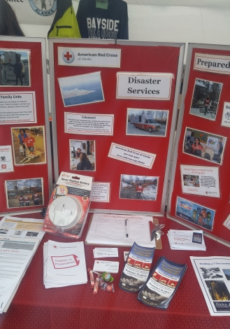 Red Cross Booth