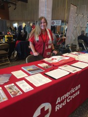 Carly at the Fire Chief's Conference Tabling in Sitka