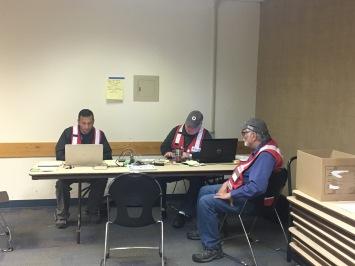 Volunteers doing casework - Fairview Rec Center