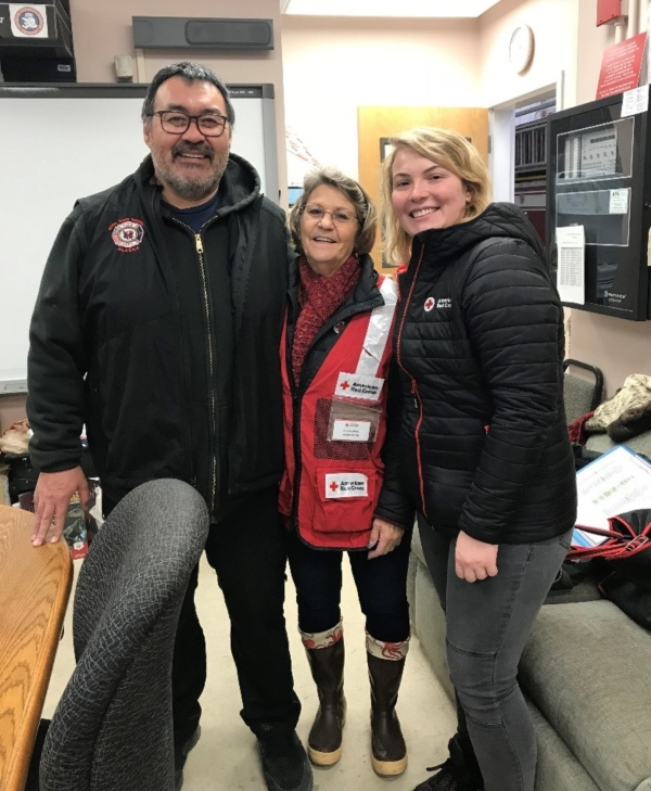 Suzanne, Jess and Chief Brower in Kaktovik