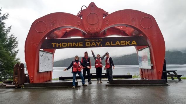 Thorne Bay - M Wanzenried, Bridget, Karen Petersen, and Rick Janelle